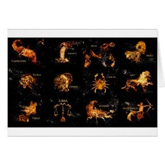 Tarjeta de felicitación de la muestra de la astrol