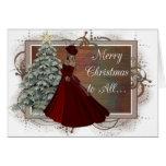 Tarjeta de felicitación de la mujer del navidad (d