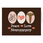 Tarjeta de felicitación de la neurocirugía del amo