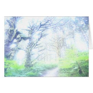 Tarjeta de felicitación de la niebla de la mañana