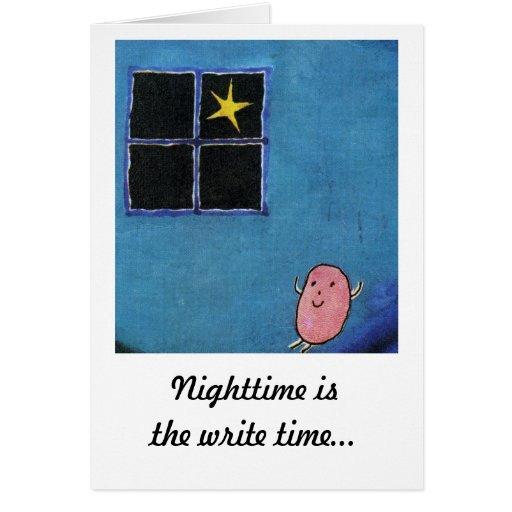 Tarjeta de felicitación de la noche