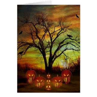Tarjeta de felicitación de la noche de Halloween