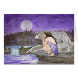 tarjeta de felicitación de la noche estrellada