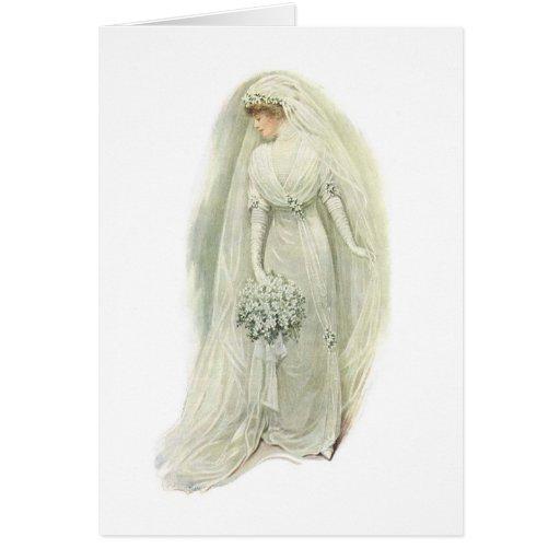 Tarjeta de felicitación de la novia de Edwardian d
