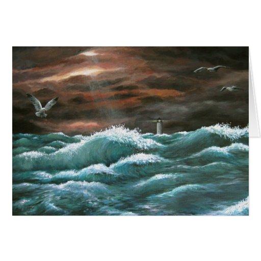 Tarjeta de felicitación de la opinión 256 del mar