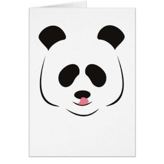 Tarjeta de felicitación de la panda gigante