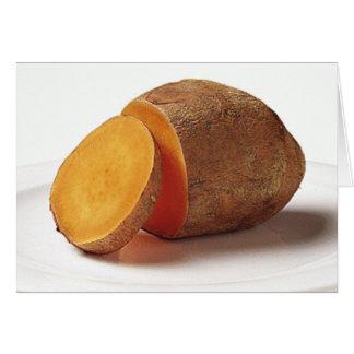 tarjeta de felicitación de la patata dulce