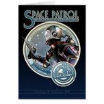Tarjeta de felicitación de la patrulla del espacio
