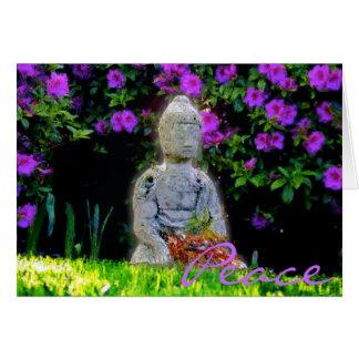 Tarjeta de felicitación de la paz de Buda 2