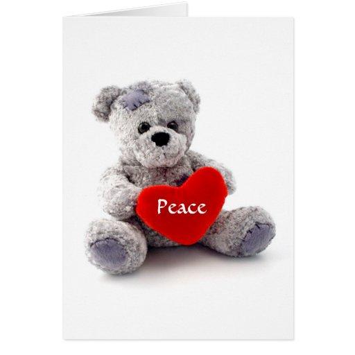 Tarjeta de felicitación de la paz interior y del c