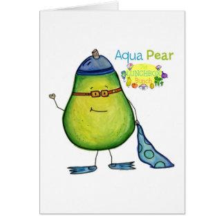 Tarjeta de felicitación de la pera de la aguamarin