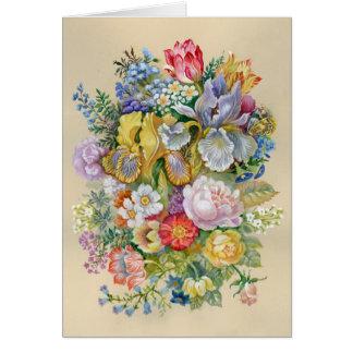 Tarjeta de felicitación de la pintura de la flor