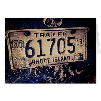 Tarjeta de felicitación de la placa de Rhode Islan
