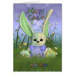 Tarjeta de felicitación de la primavera del coneji
