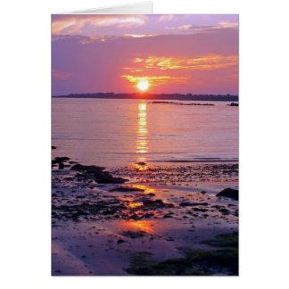 Tarjeta de felicitación de la puesta del sol