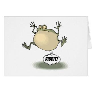 Tarjeta de felicitación de la rana