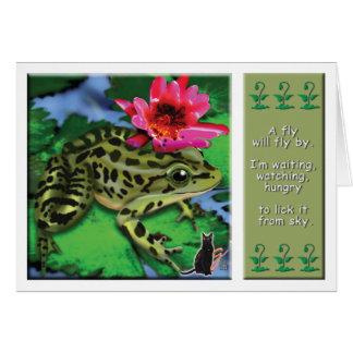 Tarjeta de felicitación de la rana de leopardo