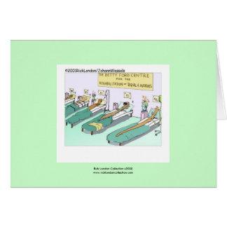 Tarjeta de felicitación de la rehabilitación del g