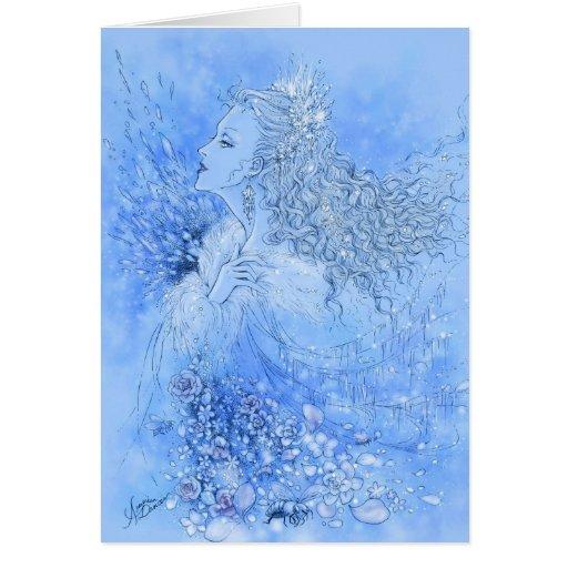 Tarjeta de felicitación de la reina de la nieve