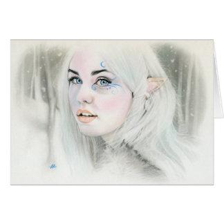 Tarjeta de felicitación de la reina de la nieve de
