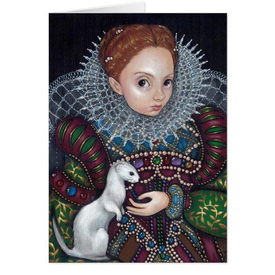 """Tarjeta de felicitación de la """"reina Elizabeth y d"""