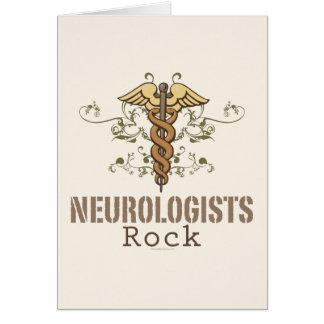 Tarjeta de felicitación de la roca de los neurólog