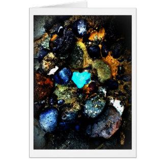 Tarjeta de felicitación de la roca del corazón