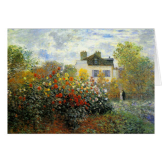 Tarjeta de felicitación de la rosaleda de Monet