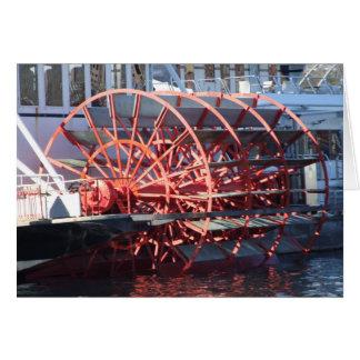 Tarjeta de felicitación de la rueda de paleta