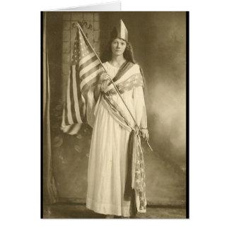 tarjeta de felicitación de la señora del liberity