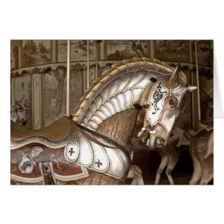 Tarjeta de felicitación de la sepia del caballo de