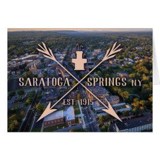 Tarjeta de felicitación de la serie 01 de Saratoga