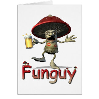 Tarjeta de felicitación de la seta de Funguy