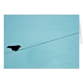Tarjeta de felicitación de la silueta del pájaro