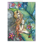 Tarjeta de felicitación de la sirena del agua dulc