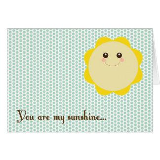 Tarjeta de felicitación de la sol