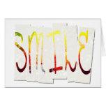 Tarjeta de felicitación de la sonrisa