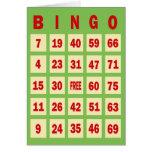 Tarjeta de felicitación de la tarjeta del bingo