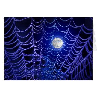 Tarjeta de felicitación de la tela de la luna y de