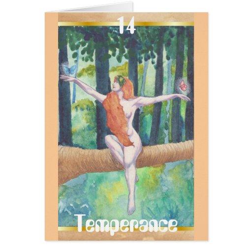 Tarjeta de felicitación de la templanza #14