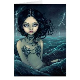 """Tarjeta de felicitación de la tormenta del mar"""