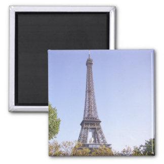 Tarjeta de felicitación de la torre Eiffel de Parí Imán Cuadrado