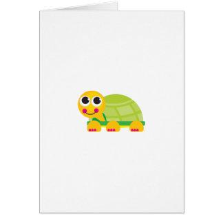 Tarjeta de felicitación de la tortuga