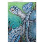 Tarjeta de felicitación de la tortuga de mar