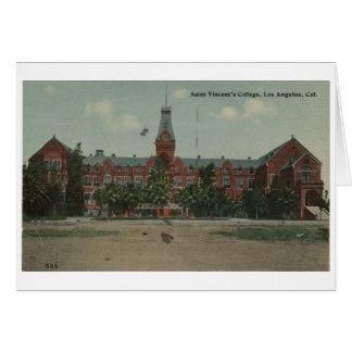 Tarjeta de felicitación de la universidad del St.