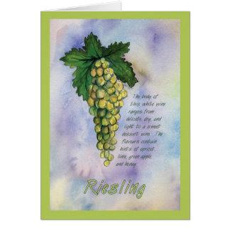 Tarjeta de felicitación de la uva de vino de