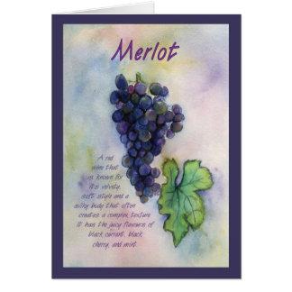 Tarjeta de felicitación de la uva de vino del