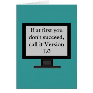 Tarjeta de felicitación de la versión 1 0