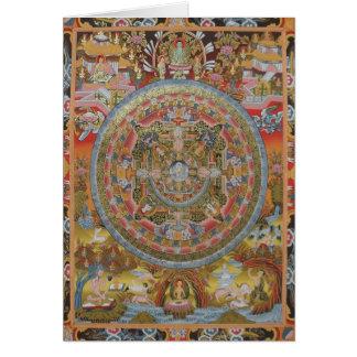 Tarjeta de felicitación de la vida de Buda