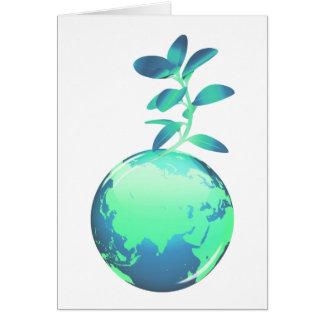 Tarjeta de felicitación de la vida vegetal